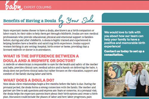 Good Living Magazine Tampa Bay Doulas